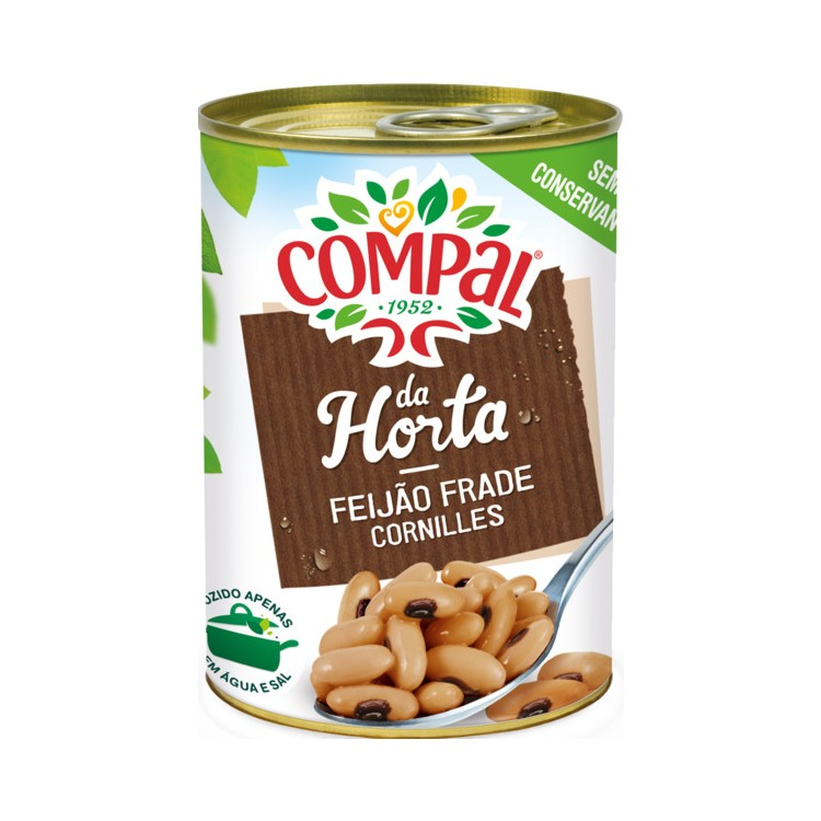 Compal Beans Black Eyed In Brine Small Tin 410g
